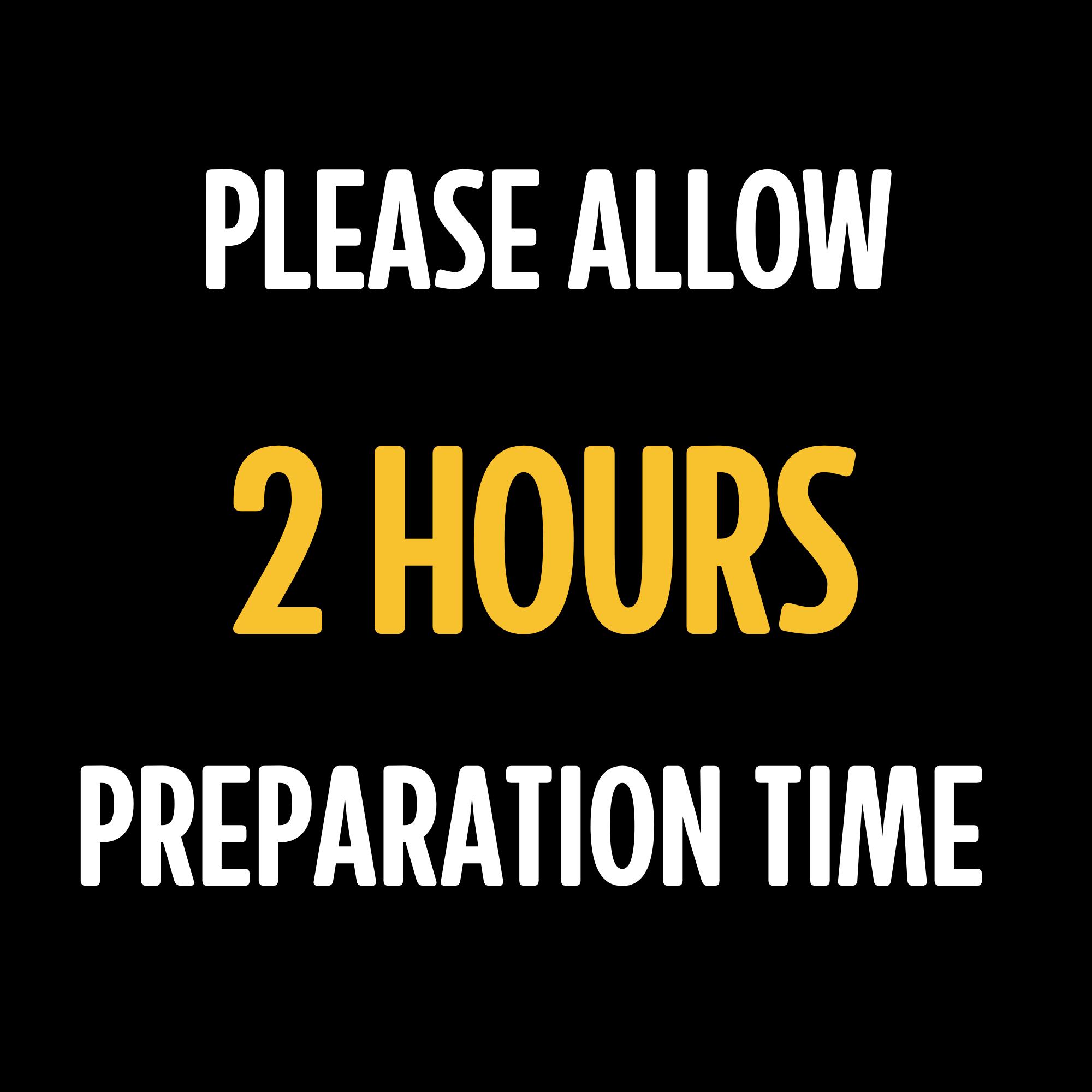Prep Time Notice